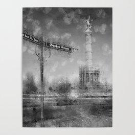 CityArt BERLIN Victory Column | monochrome Poster