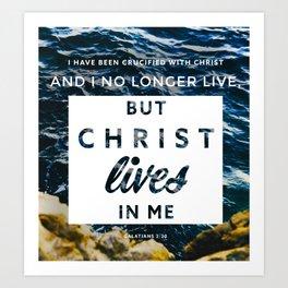Galatians 2:20 Art Print