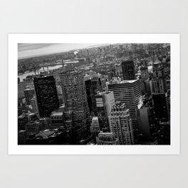 Manhattan Noir - Sky view Art Print