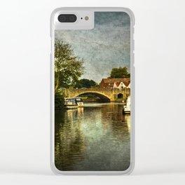 Abingdon Bridge Clear iPhone Case