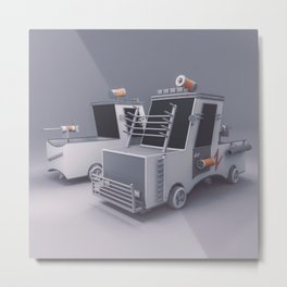 The Defender Car Metal Print