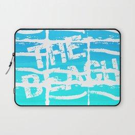 The Beach Aqua Laptop Sleeve