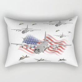 American Air Force Armada AC130 F22 F16 A10 Rectangular Pillow