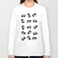 cameras Long Sleeve T-shirts featuring little cameras by Alice Dol