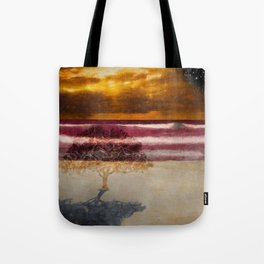 Fool standing at the beach starring at starry sky (Heinrich Heine) Tote Bag