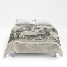 Vintage Illustration of the Declaration Committee Comforters
