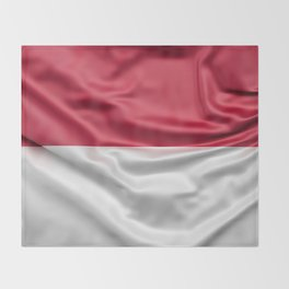 Flag of Indonesia Throw Blanket