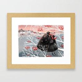 Winter meal Framed Art Print