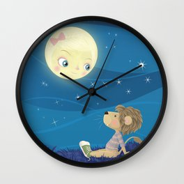 Lav & Luna Wall Clock