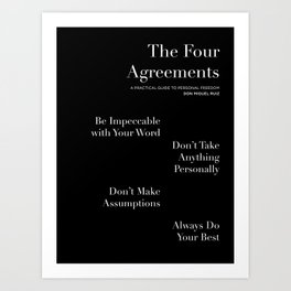 The Four Agreements: Black Art Print