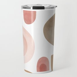 Terracotta Shapes Travel Mug