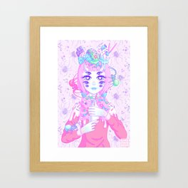 MISS MUFFET (re-edit) Framed Art Print