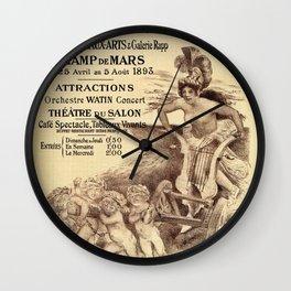 Expo Commerce Paris 1893 Wall Clock