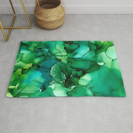 Into the Depths of Sea Green Mysteries Rug