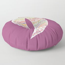 Life Path 9 (color background) Floor Pillow