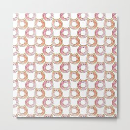 donut cat Metal Print