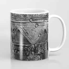 banded tin Coffee Mug