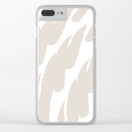Neutral Abstract Brush Marks Clear iPhone Case