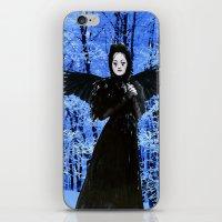 edgar allan poe iPhone & iPod Skins featuring Nevermore - Edgar Allan Poe by Danielle Tanimura