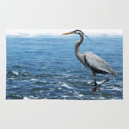 Great Blue Heron on the Pacific Coast in Costa Rica Rug