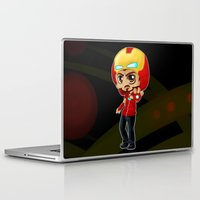 tony stark Laptop & iPad Skins featuring Tony Stark - Iron Hooded by Kapika