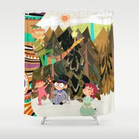 neverland Shower Curtains featuring An Afternoon In Neverland by Kelly Kates