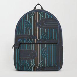 art deco stripe Backpack
