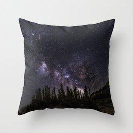 """Meteorite at the mountains"" Throw Pillow"