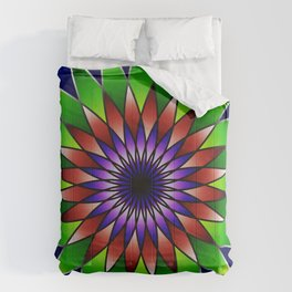 Queen of the valley mandala Comforters