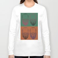 popart Long Sleeve T-shirts featuring Socrates Beard PopArt by Britbee CokerMoen