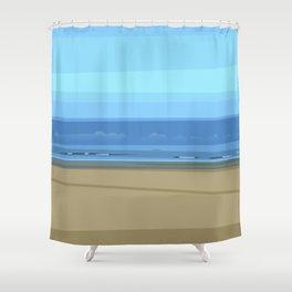 Seascape I - Kijkduin Shower Curtain