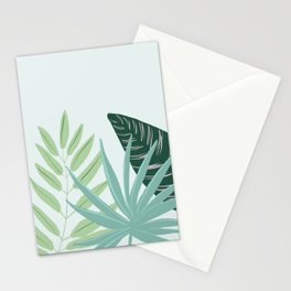 Pastel Tropical Plant Illustration Stationery Cards