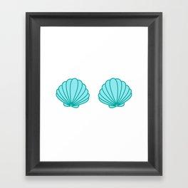 Mermaid Shell Bra Framed Art Print