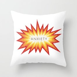 Anxiety Attack Throw Pillow