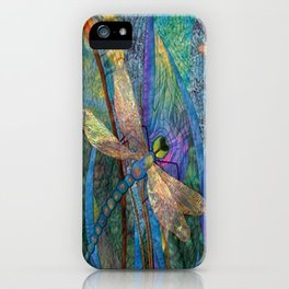 Colorful Dragonflies iPhone Case