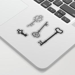 Light Grey Victorian Keys Sticker