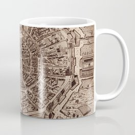 Map Of Milan 1600 Coffee Mug