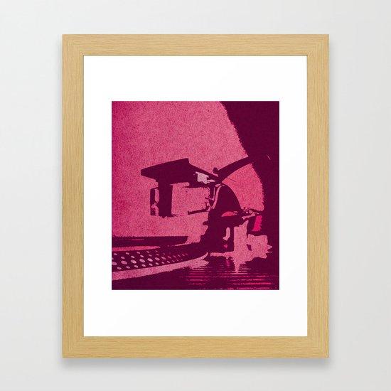 Hot Pink Turntable Vintage Style Art by wildflowerwanderer