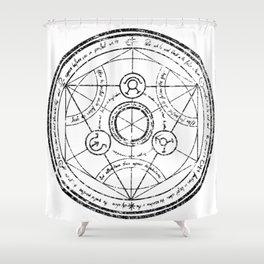 Transmutation Shower Curtain