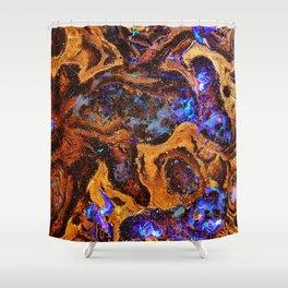Boulder Opal Abstract Shower Curtain