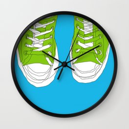 Cons. Art Print. Trainers. Sneakers. Converse All Star. Boys Art. Wall Clock