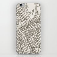 nashville iPhone & iPod Skins featuring Nashville Map by Zeke Tucker
