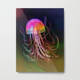 Jellyfish Smell of Summer Metal Print