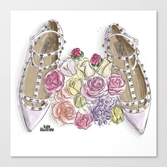Ballerina's Dream Shoes Canvas Print