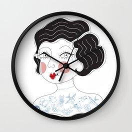 Tattooed Betty Wall Clock