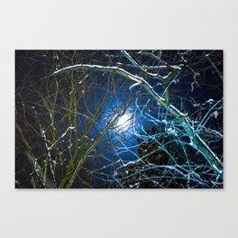 Blue Snow Moon Glow Canvas Print