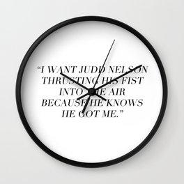 Judd Nelson Wall Clock