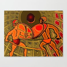 Gladiator Battle in the Pantheon Canvas Print