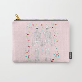 together forever pink background Carry-All Pouch