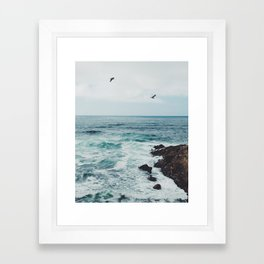 Sea Blue Framed Art Print